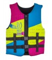 2018 Ronix August Girl's - CGA Life Vest - Neon / Pink / Blue - Youth